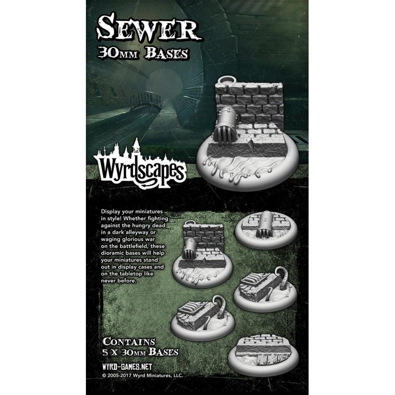 Malifaux Wyrdscape Sewer 30mm Base