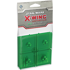 Star Wars X-Wing Miniatures Game Green Bases and Pegs