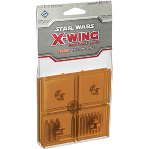Star Wars X-Wing Miniatures Game Orange Bases and Pegs