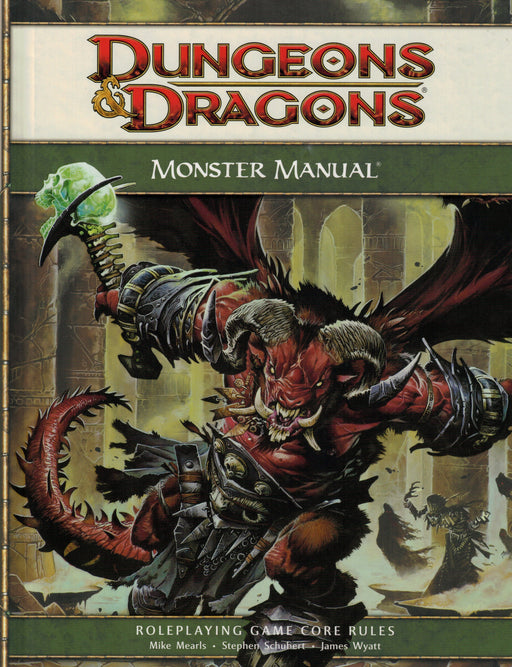 Dungeons & Dragons Monster Manual Roleplaying Game Core Rules 4th Edition