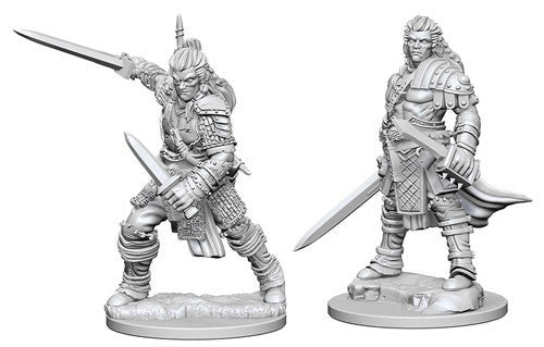 Deep Cuts Pathfinder Unpainted Miniatures Human Male Fighter