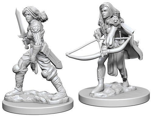 Deep Cuts Pathfinder Unpainted Miniatures Human Female Fighter