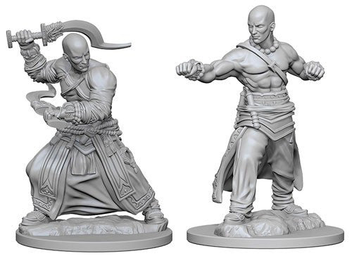 Deep Cuts Pathfinder Unpainted Miniatures Human Male Monk
