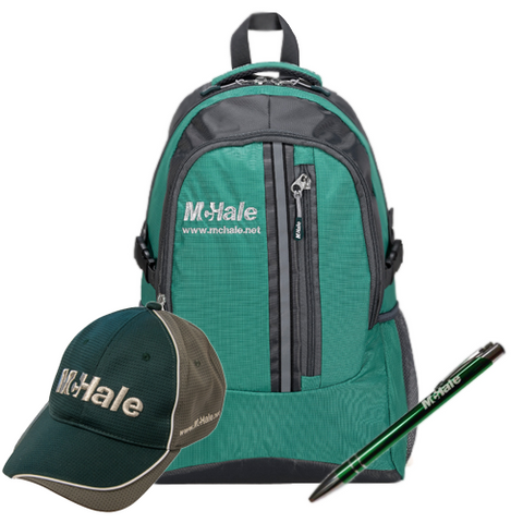 McHale Back to School Pack -Backpack, Baseball Hat & Pen