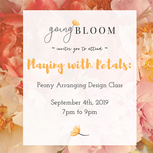 Playing with Petals - Designing with Peonies - Workshops & Classes - Going Bloom - boise_wholesale_flowers - Boise_Flower_Market