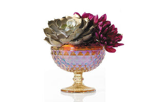 "Iridescent Table Compote 5""X 4"" - Hard Goods - Going Bloom - boise_wholesale_flowers - Boise_Flower_Market"