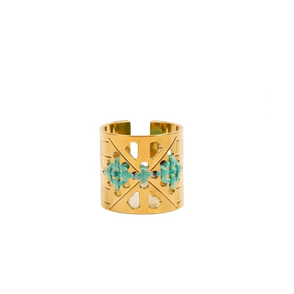 CAMILLE ENRICO - Bague GOLÉA or turquoise