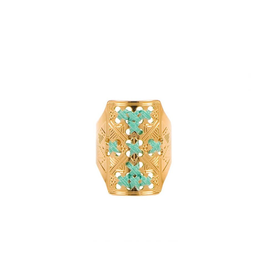 CAMILLE ENRICO - Bague GOURAM or turquoise