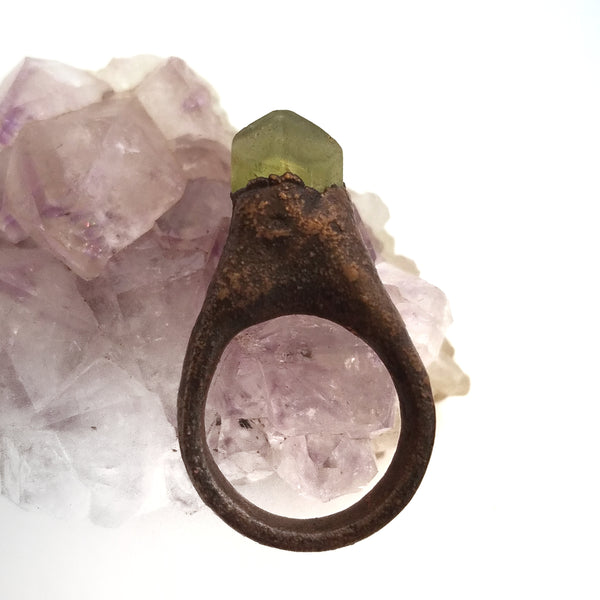 Peridot Gemstone Ring, Size 5