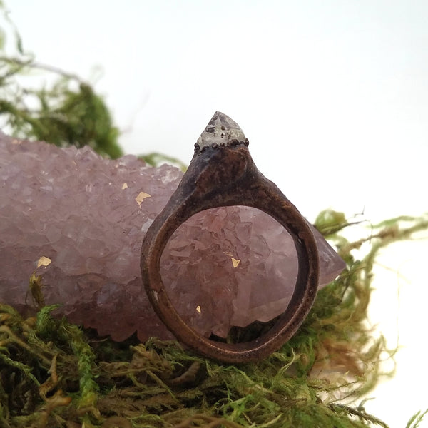 Quartz Crystal Ring, Size 6.5