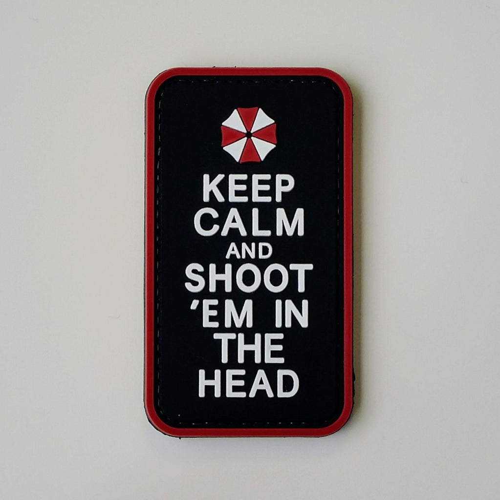 Keep Calm And Shoot 'Em - Morale Patch - Fishbone Airsoft Company