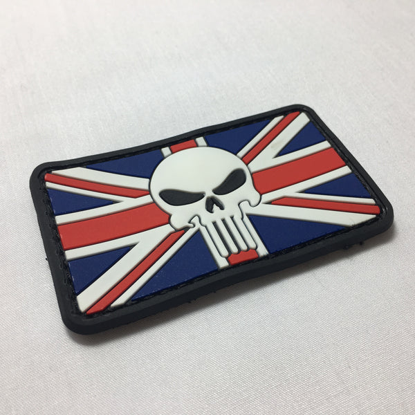 Punisher Union Jack - Morale Patch - Fishbone Airsoft Company
