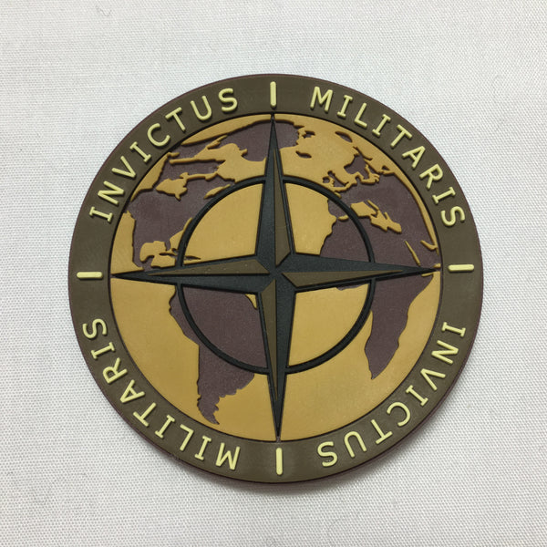 INVICTUS MILITARIS Morale Patch - Brown and Green - Fishbone Airsoft Company