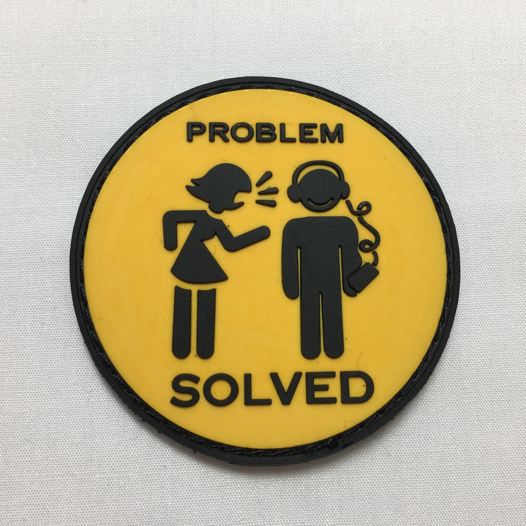 Problem Solved - Morale Patch - Yellow and Black - Fishbone Airsoft Company