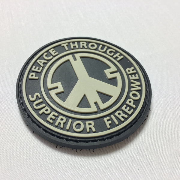Peace Through Firepower - Morale Patch - Fishbone Airsoft Company