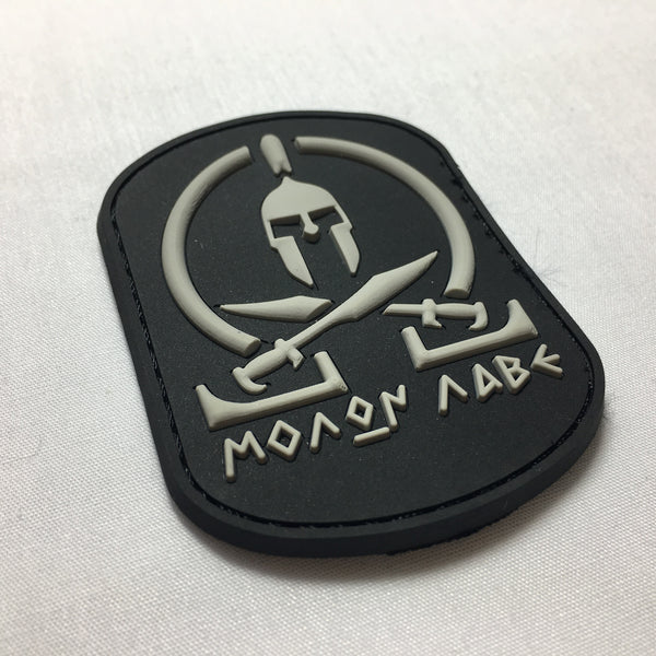 MOLON LABE - Morale Patch - black and grey - Fishbone Airsoft Company