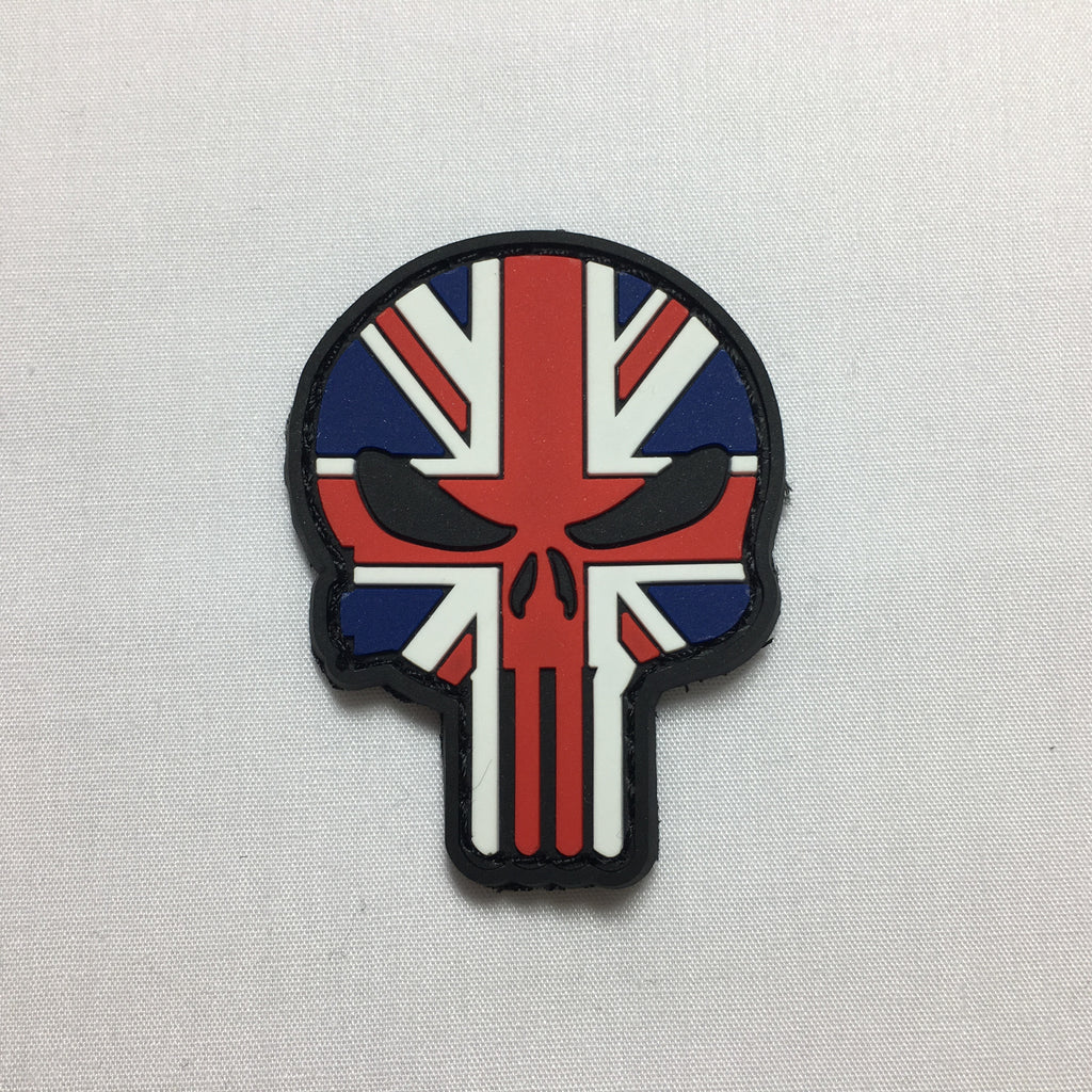 Union Jack Punisher Skull Morale Patch - Fishbone Airsoft Company