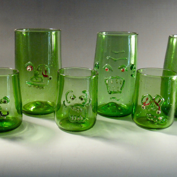 Zombie Glasses by Sarah A Band Made from recycled bottle glass