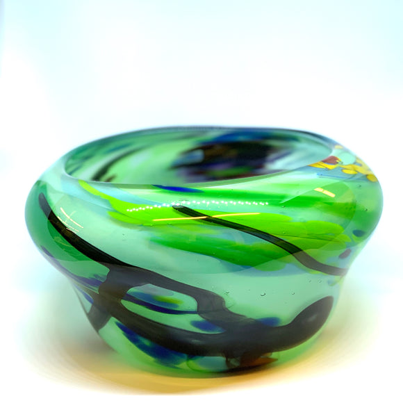 Mulitcolor Tall Jade Bowl by Nicholas Burton Bragg