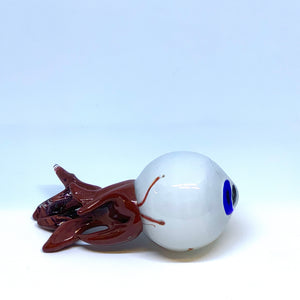 Hand blown glass eyeball by artist Sarah A Band