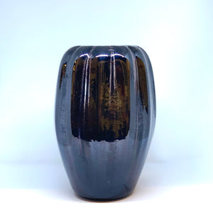 Reduced Black Vase with Ridges Nicholas Burton Bragg