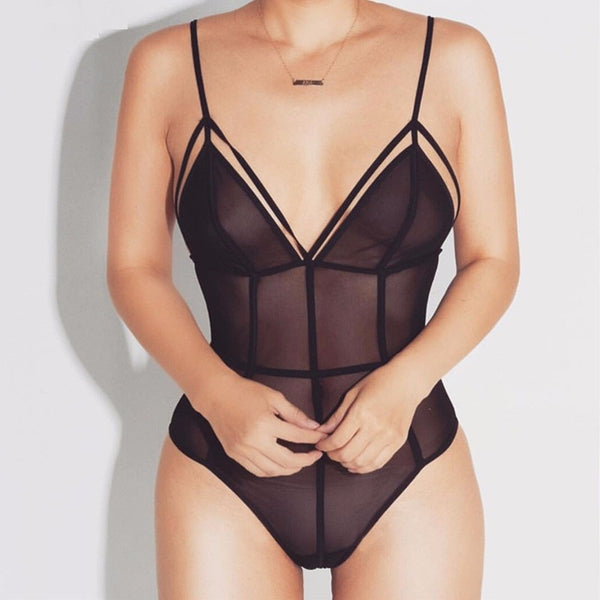 Eliza Black Bodysuit