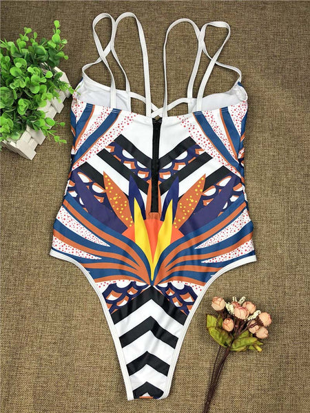Kendi African Print One Piece Swimsuit