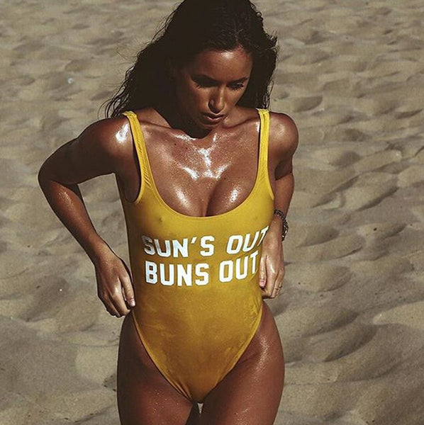 Sun's Out Buns Out One Piece Swimsuit