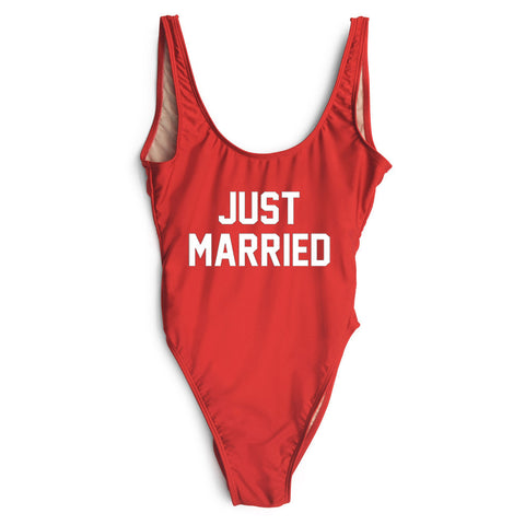 Just Married One Piece Swimsuit