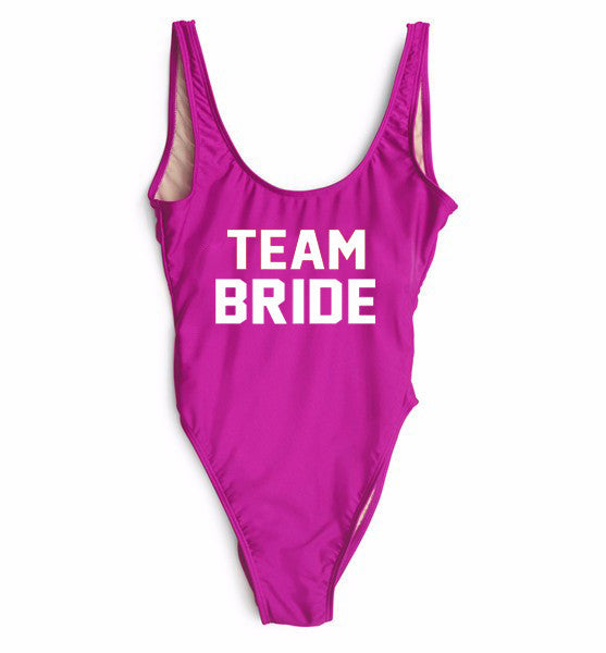 Team Bride One Piece Swimsuit