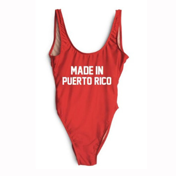 Made in Puerto Rico One Piece Swimsuit
