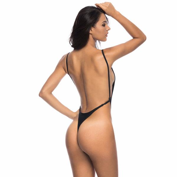 Brooklyn High Cut Thong One Piece Swimsuit