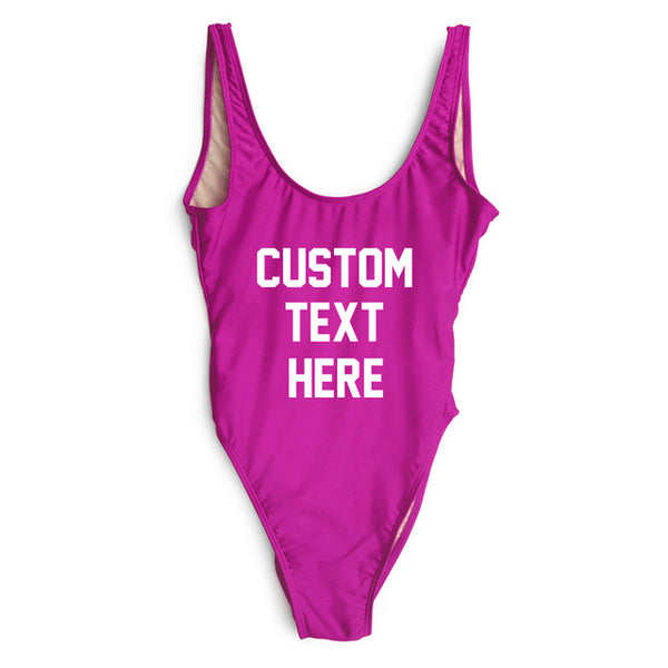 Custom Letter Print Swimsuit