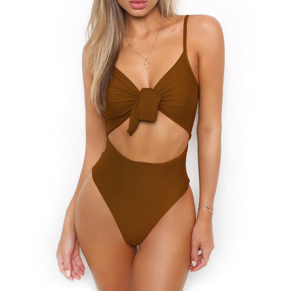 Kiki Tie Front One Piece Swimsuit