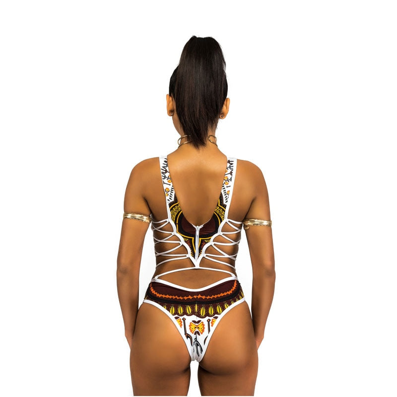 a921ff65c1 Imani African Print One Piece Swimsuit