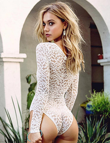 Sasha White Lace Bodysuit -