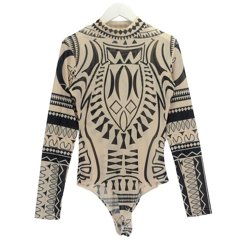 Raina Printed Bodysuit -  - 3