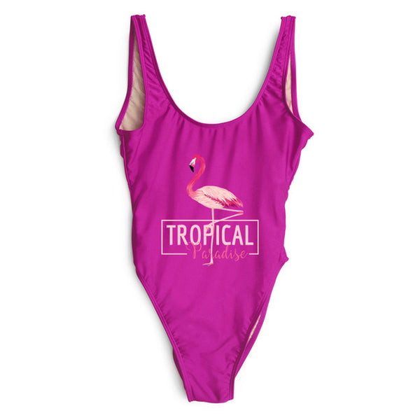 Tropical Paradise Flamingo One Piece Swimsuit