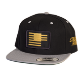 Staggerring: Staggered Stripes snap back cap