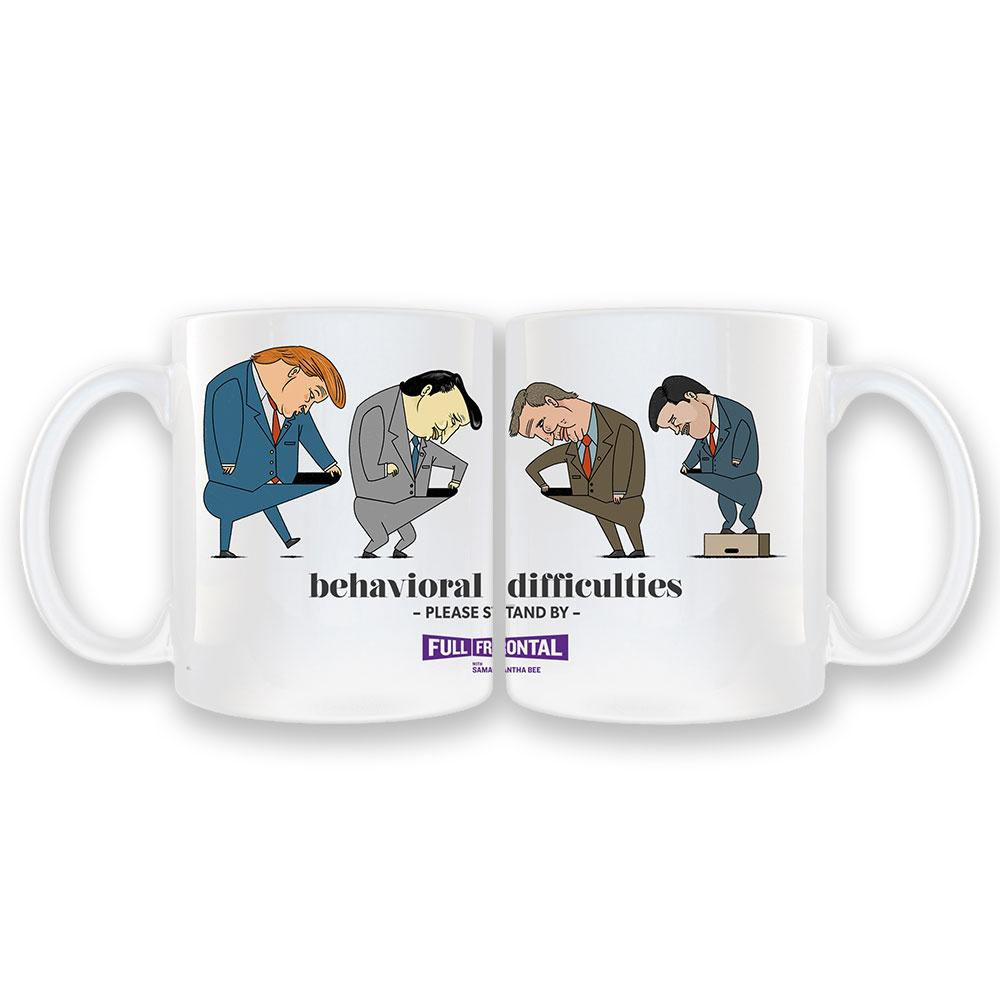 Full Frontal with Samantha Bee Behavioral Difficulties White Coffee Mug