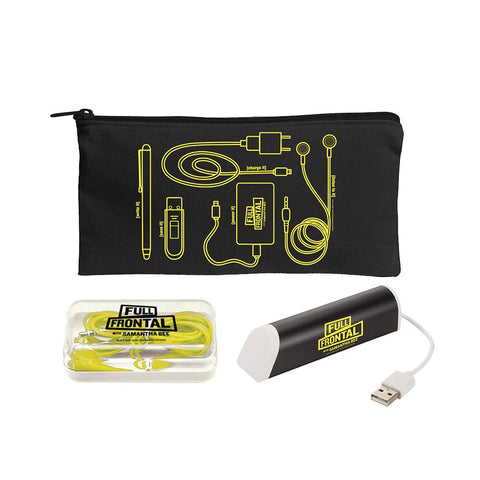 Full Frontal with Samantha Bee Women in Tech! Pouch, Power Charger, and Earbuds