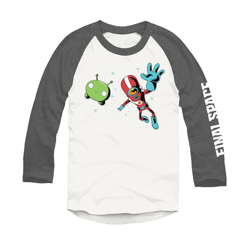 Final Space Gray and White Unisex Raglan Tee