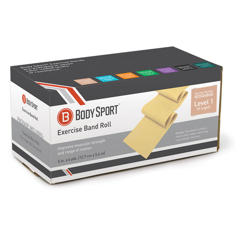 "BodySport® 5"" Wide Bulk Exercise Bands"