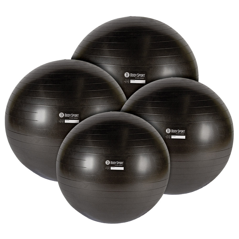 Body Sport® Studio Series Charcoal Fitness Balls