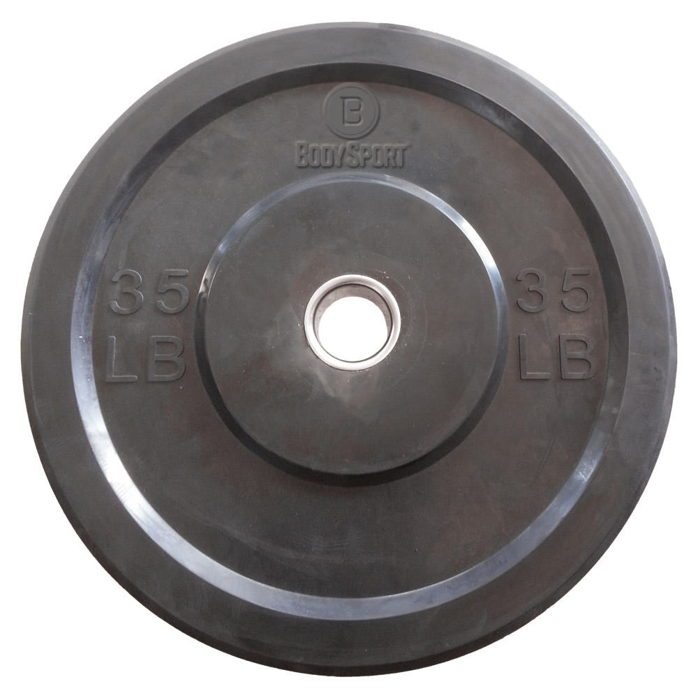 "Body Sport® 2"" Rubber Olympic Bumper Plates"