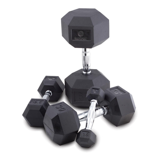 Body Sport® Rubber Encased Hex Dumbbells