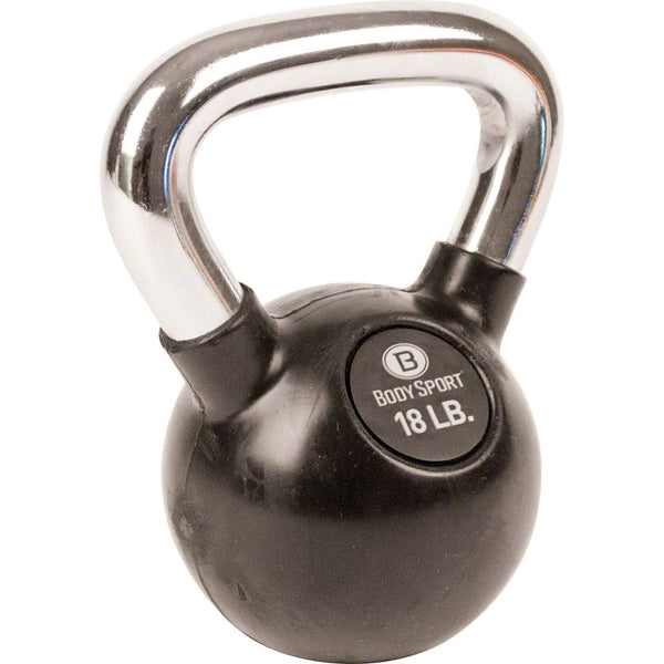 Body Sport® Rubber Chrome Kettlebells