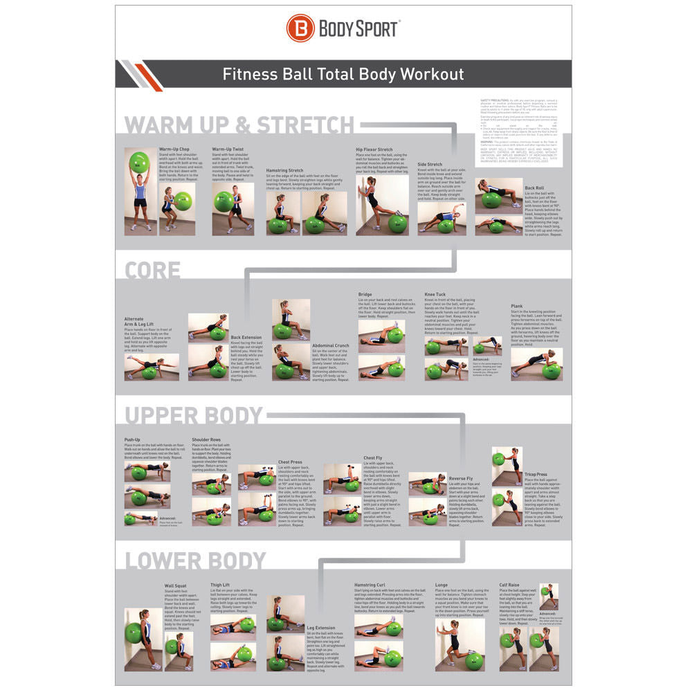 Body Sport® Fitness Ball Workout Poster