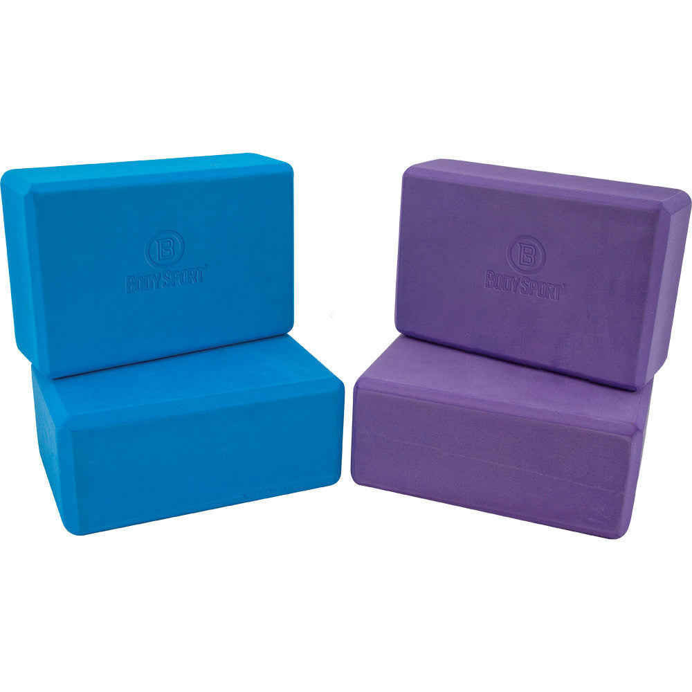 BodySport Yoga Blocks in Blue and Purple