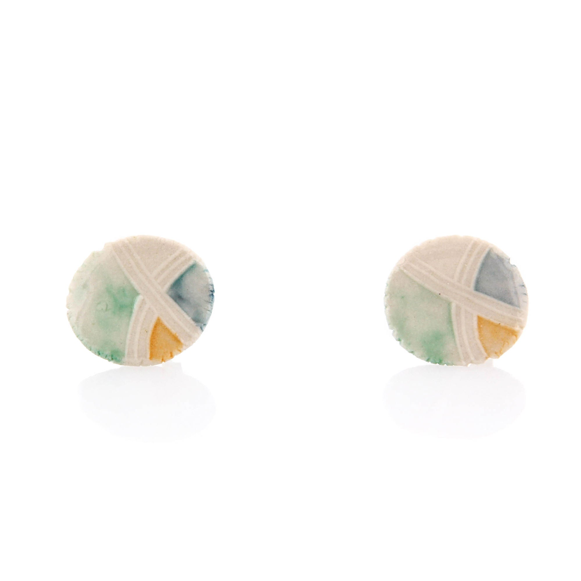 Carole Epp, Stud Earrings, Porcelain